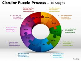 10 Components Circular Puzzle Process 10