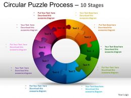 10 Components Circular Puzzle Process Powerpoint Slides And ppt Templates 0412