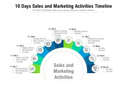 10 Days Sales And Marketing Activities Timeline