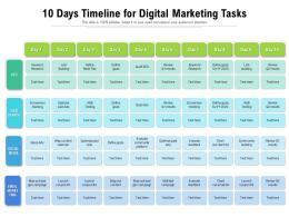 10 Days Timeline For Digital Marketing Tasks