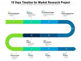 10 Days Timeline For Market Research Project