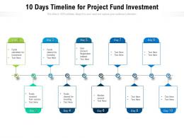 10 Days Timeline For Project Fund Investment