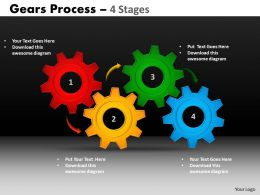 10 Gears Process 4 Stages Style 1 Powerpoint Slides And Ppt Templates 78