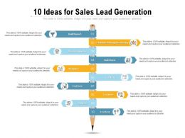 10 Ideas For Sales Lead Generation