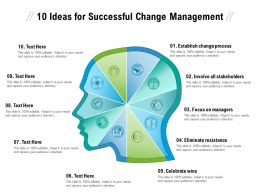 10 Ideas For Successful Change Management