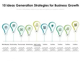 10 Ideas Generation Strategies For Business Growth