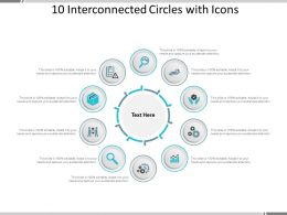 10 Interconnected Circles With Icons