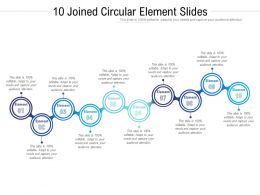 10 Joined Circular Element Slides