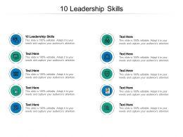 10 Leadership Skills Ppt Powerpoint Presentation Ideas Layout Cpb