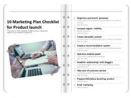10 Marketing Plan Checklist For Product Launch