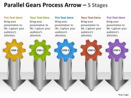 10 Parallel Gears Process Arrow 5 Stages