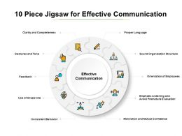 10 Piece Jigsaw For Effective Communication