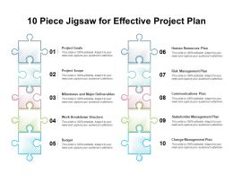 10 Piece Jigsaw For Effective Project Plan