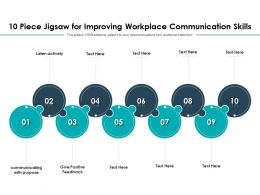 10 Piece Jigsaw For Improving Workplace Communication Skills