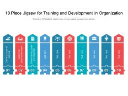 10 Piece Jigsaw For Training And Development In Organization