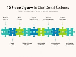 10 Piece Jigsaw To Start Small Business