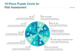 10 Piece Puzzle Circle For Risk Assessment