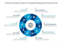 10 Piece Puzzle Circle To Increase Employee Productivity