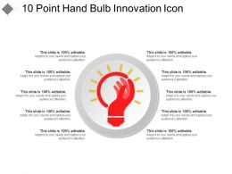10 Point Hand Bulb Innovation Icon