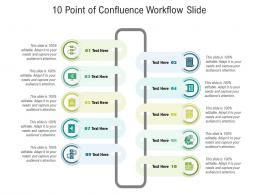 10 Point Of Confluence Workflow Slide Infographic Template