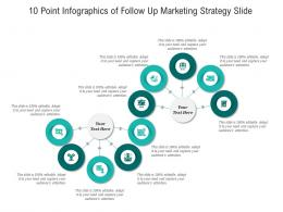 10 Point Of Follow Up Marketing Strategy Slide Infographic Template