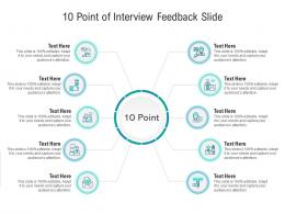 10 Point Of Interview Feedback Slide Infographic Template