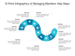 10 Point Of Managing Members Help Steps Infographic Template