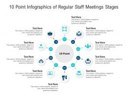 10 Point Of Regular Staff Meetings Stages Infographic Template