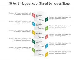 10 Point Of Shared Schedules Stages Infographic Template
