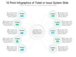 10 Point Of Ticket Or Issue System Slide Infographic Template
