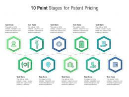 10 Point Stages For Patent Pricing Infographic Template