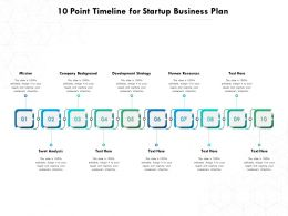 10 Point Timeline For Startup Business Plan
