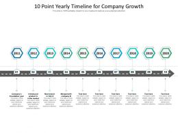 10 Point Yearly Timeline For Company Growth