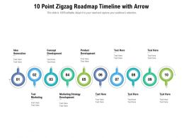 10 Point Zigzag Roadmap Timeline With Arrow