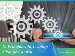10 Principles In Leading Change Control Powerpoint Presentation Slides