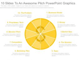 10 Slides To An Awesome Pitch Powerpoint Graphics