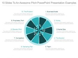 10 Slides To An Awesome Pitch Powerpoint Presentation Examples
