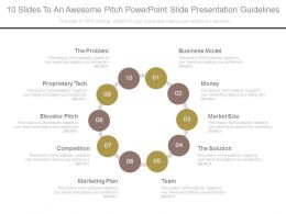 10 Slides To An Awesome Pitch Powerpoint Slide Presentation Guidelines