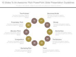 27418046 Style Cluster Surround 10 Piece Powerpoint Presentation Diagram Template Slide