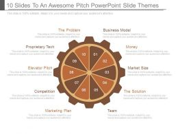 10 Slides To An Awesome Pitch Powerpoint Slide Themes