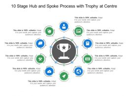 10 Stage Hub And Spoke Process With Trophy At Centre