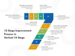 10 Stage Improvement Process In Vertical 10 Stage