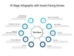 10 Stage Infographic With Inward Facing Arrows