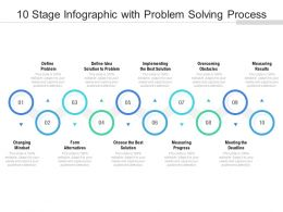 10 Stage Infographic With Problem Solving Process
