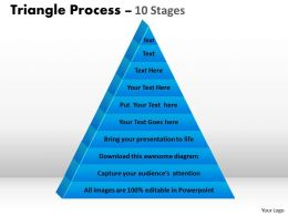 10 Staged Triangle Process Flow