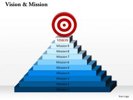 10 Staged Vision And Mission Diagram 0214