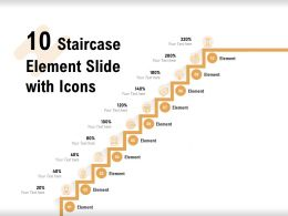 10 Staircase Element Slide With Icons