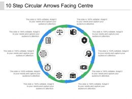 10 Step Circular Arrows Facing Centre