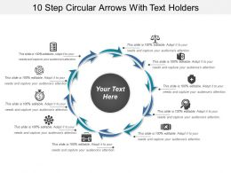 10 Step Circular Arrows With Text Holders