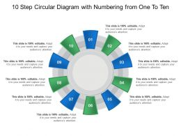 10 Step Circular Diagram With Numbering From One To Ten